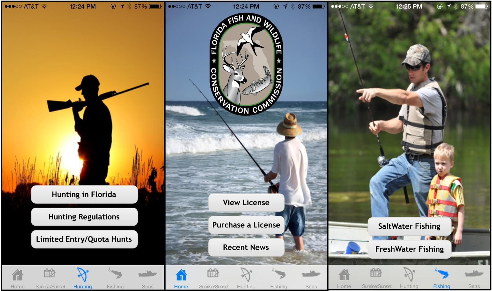 No more soggy fishing licenses fwc launches permit app wlrn for Florida fishing license app