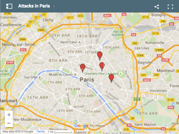Bataclan Concert Hall Paris Map.At Least 127 Killed In Paris Terrorist Attacks More Than 180