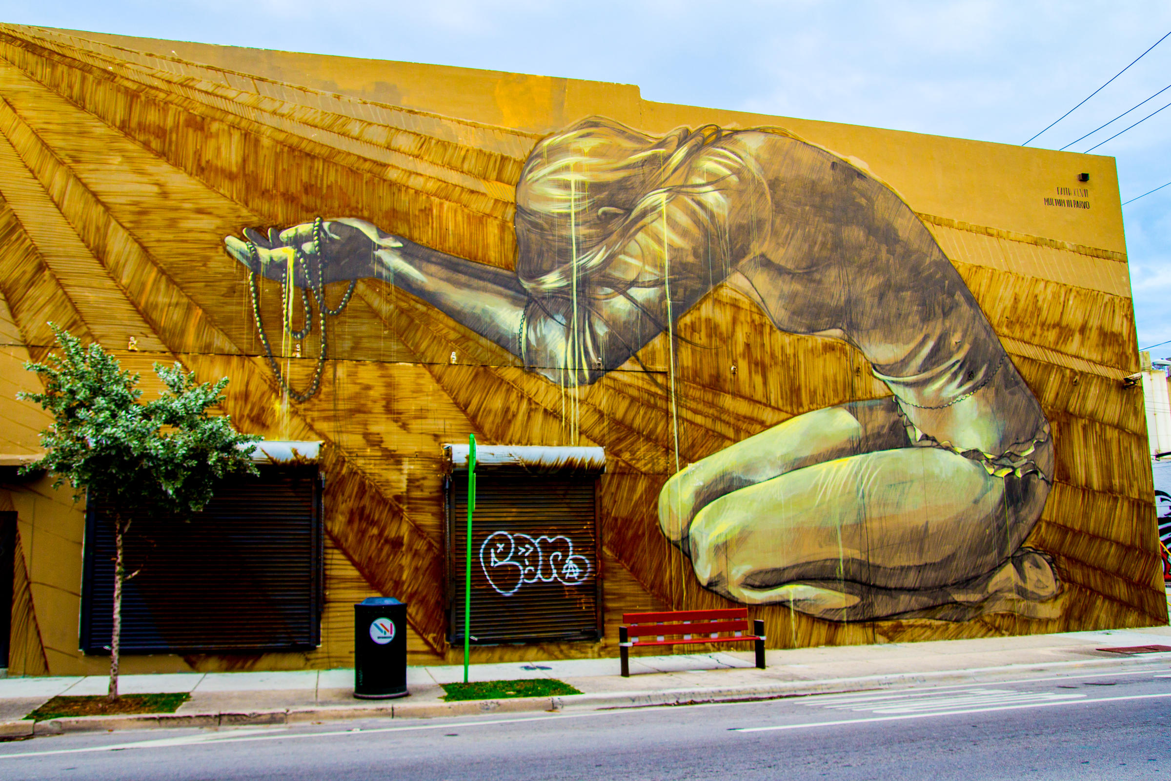 streets of wynwood a burgeoning art scene wlrn south african artist faith47 created this mural for the
