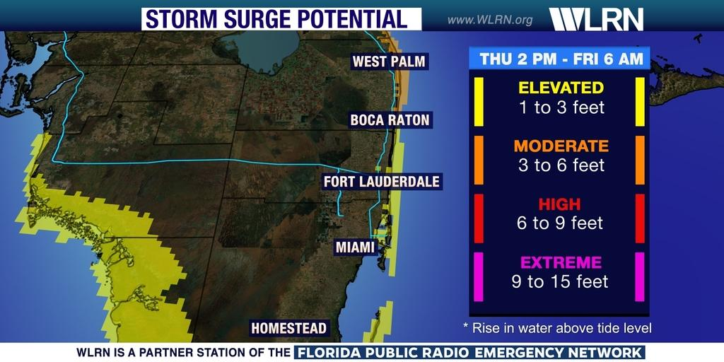 Northeast Florida Beaches Map.Hurricane Matthew Heads For Northeast Florida Wlrn