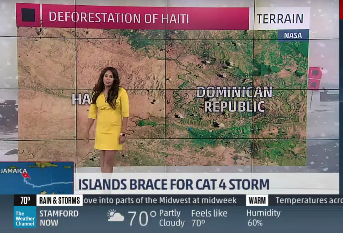weather channel meteorologist apologizes for haitian