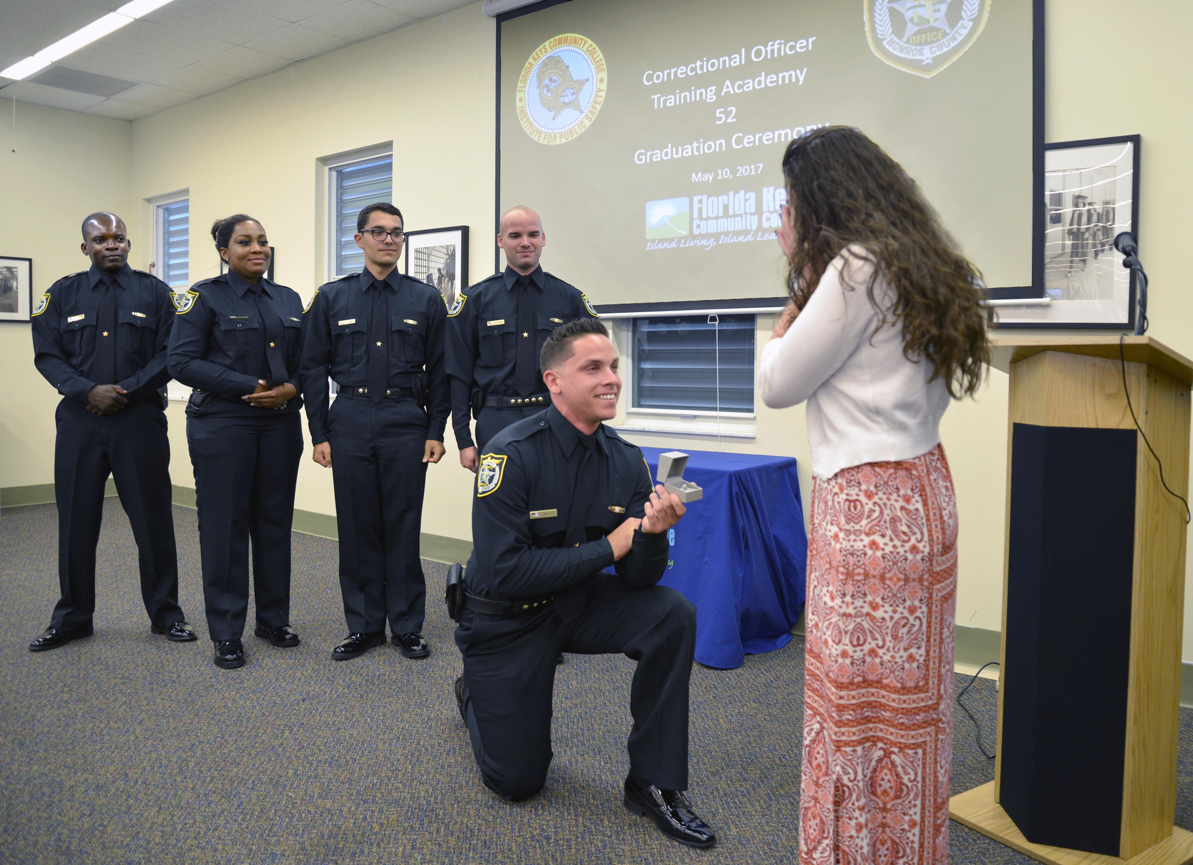 ceremony yields 10 new corrections officers and one engagement wlrn