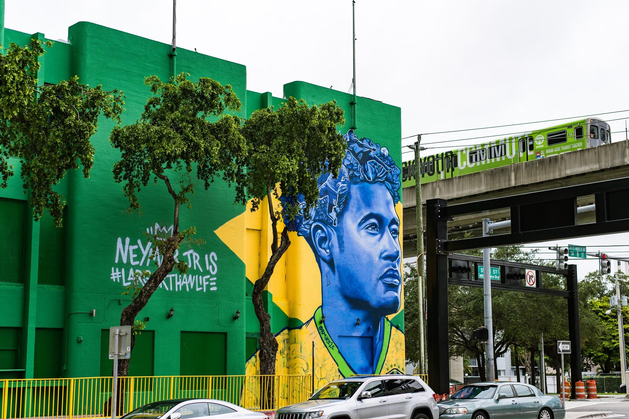 neymar muralist made hair the unifying factor in his commissioned