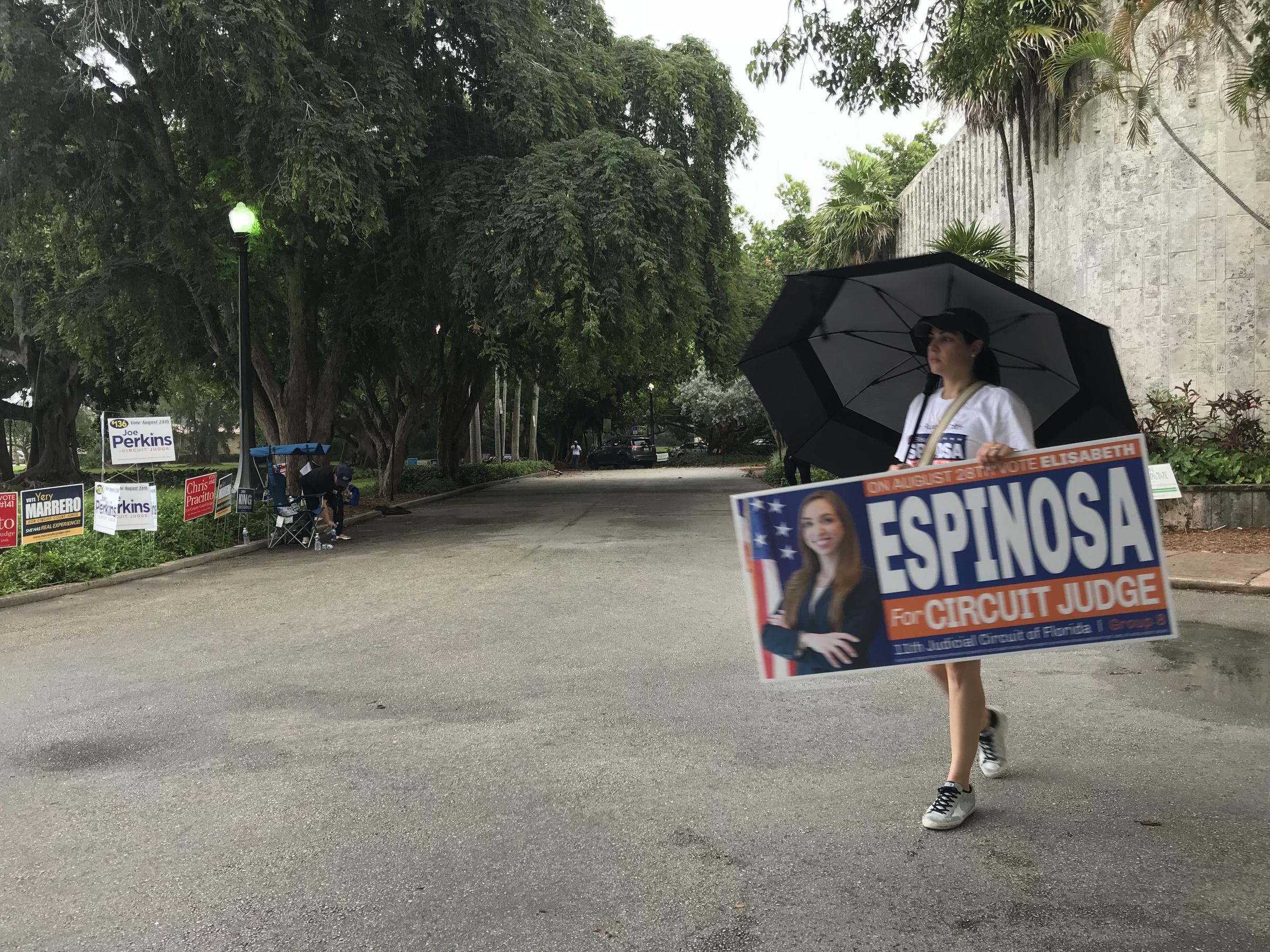 Election day live coverage polls close in south florida wlrn campaign workers in coral gables pack up and leave as it begins to rain on primary election day tuesday august 28 publicscrutiny Gallery