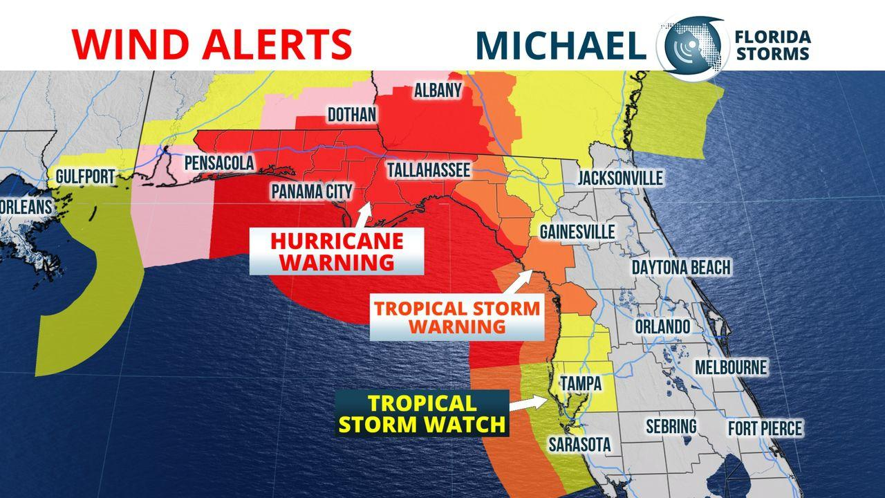 Hurricane Risk Map Florida.Nws Storm Surge From Hurricane Michael Could Be Catastrophic Wlrn