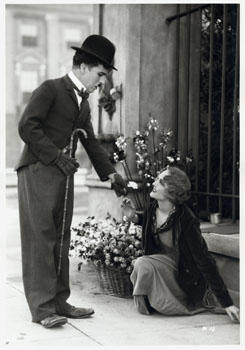 "Charlie Chaplin & Virginia Cherrill in ""City Lights"""