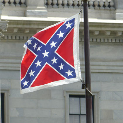 The Confederate battle flag on the grounds of the South Carolina State House, July 9, 2015.
