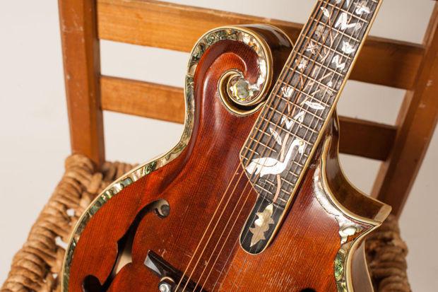 A mandolin built by Frank Sox.