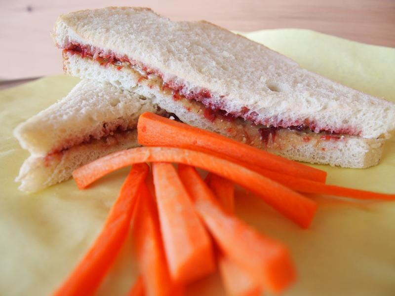 Peanut Butter and Jelly with Carrots