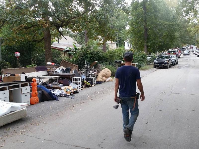 Clean-up is underway but volunteers are still needed.