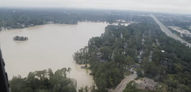 A helicopter view of some of the October 2015 flooding in South Carolina.