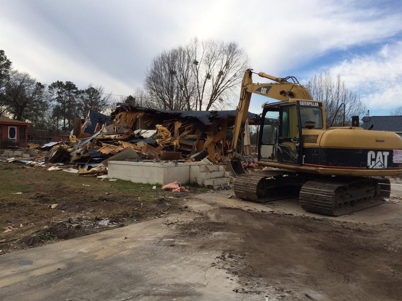 Some houses in Gadsden were damaged beyond repair and are being demolished.