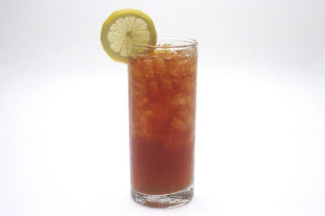 A glass of iced tea.