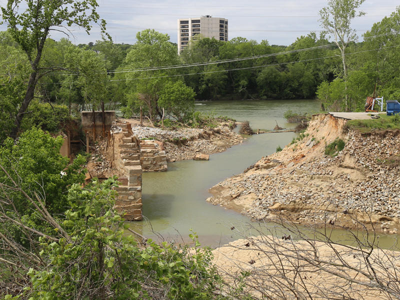 The River Rocks Music Festival is normally held at River Front Park in downtown Columbia.  Event organizers would drive across the Columbia Canal to transport items for the festival. During October's historic rain event, the site was flooded, the performa
