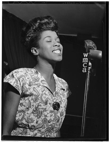 Sarah Vaughan, Café Society (Downtown), New York, N.Y., ca. Sept. 1946.