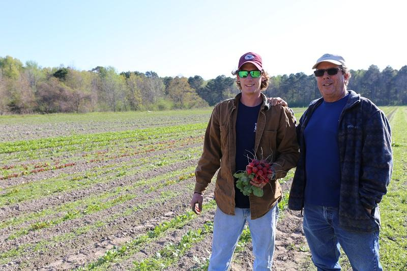 Ashby and Urbie West, father and son, have been farming together for seven years.