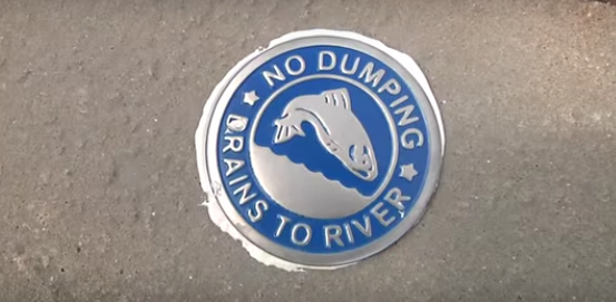 Richland County storm drain marker.