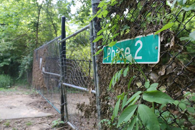 Locked gate at Phase 2 of Cayce Riverwalk