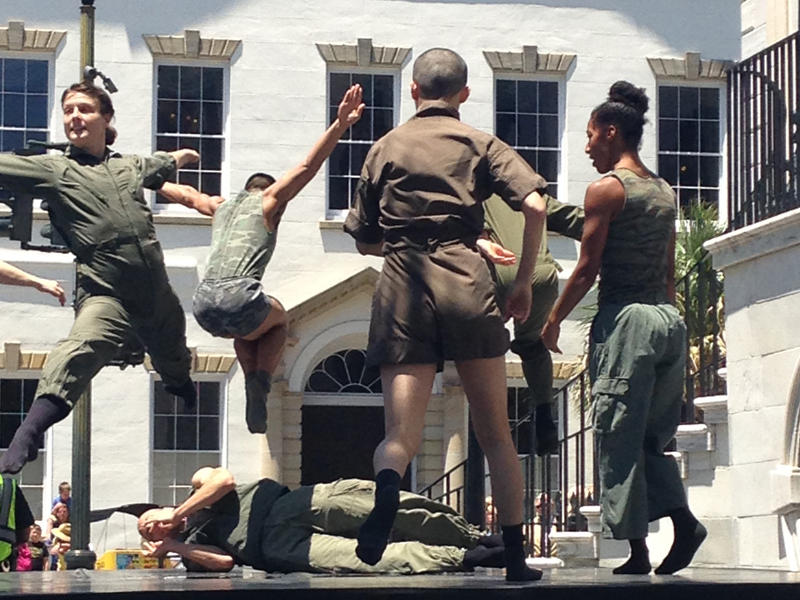 "During the opening ceremony for Spoleto Festival USA, Charleston, SC,  the Bill T. Jones/Arnie Zane Company perform an excerpt from ""D-Man in the Water."""