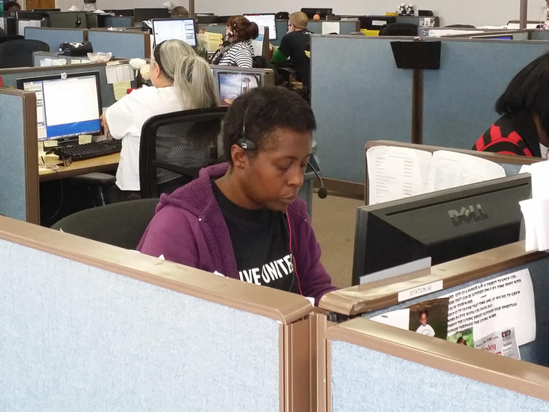 A view of the United Way's 2-1-1 Call Center, which handles thousands of calls each month.