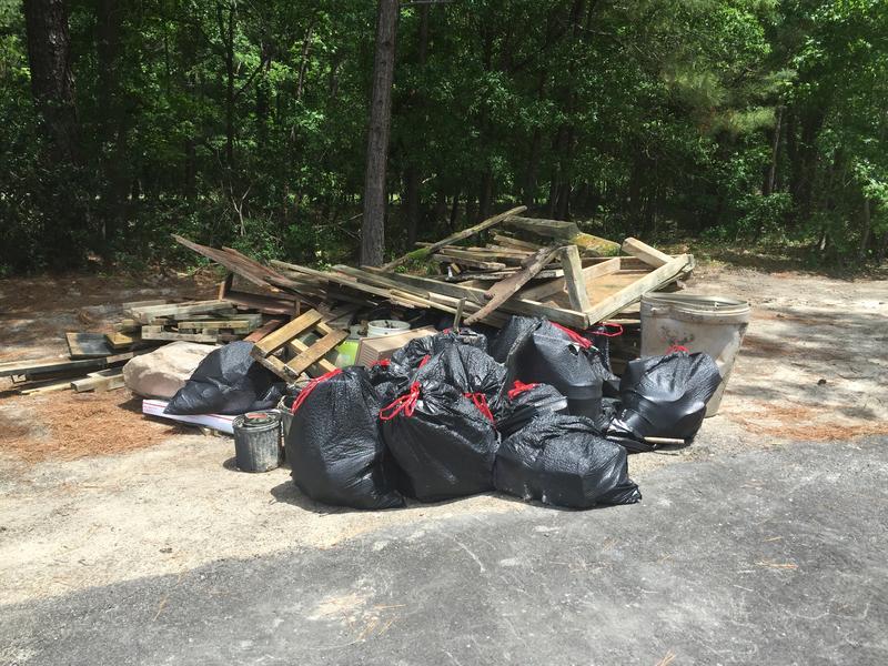 A pile of Flood-debris