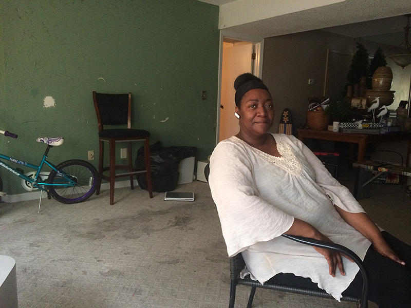 Jerline Green in her apartment located just outside of Columbia.