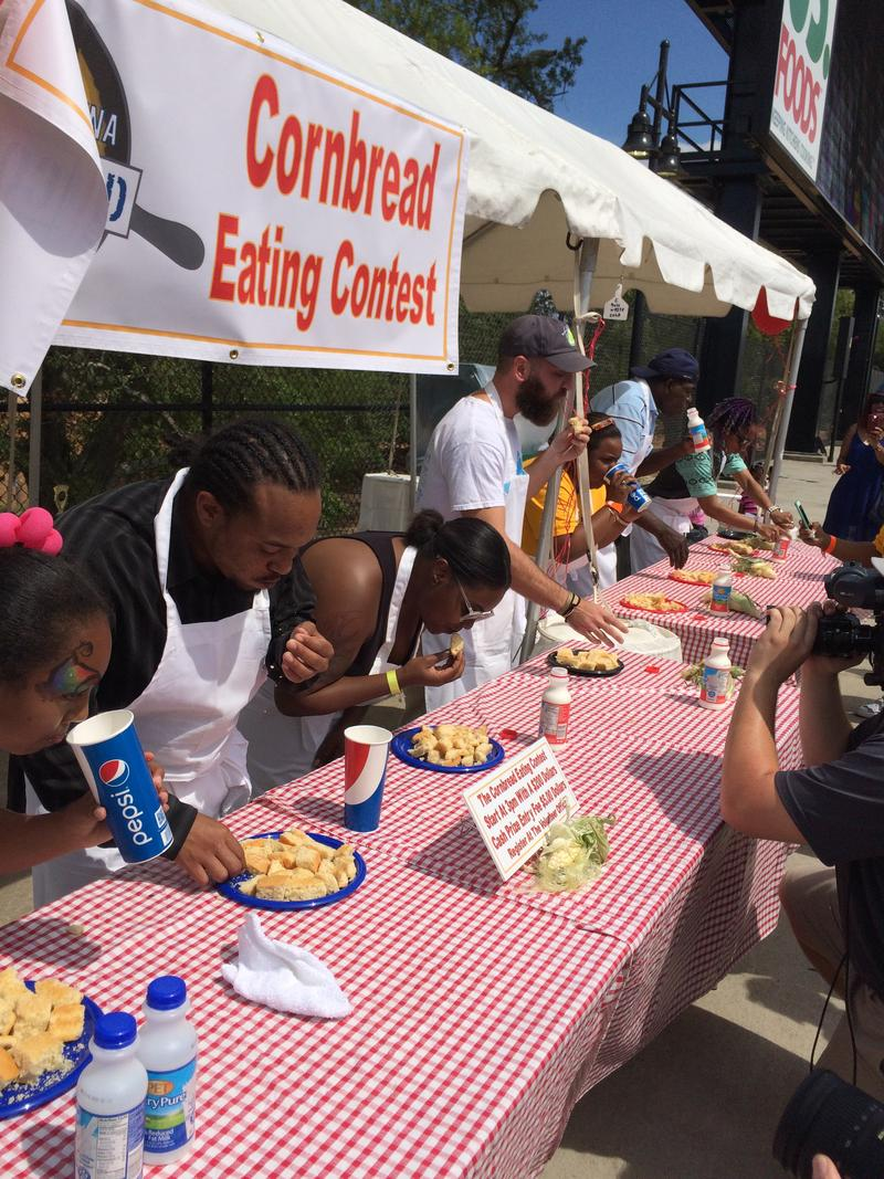 The South Carolina Cornbread Festival features a cornbread eating contest among other fun events that help celebrate a favorite staple of the Southern diet.