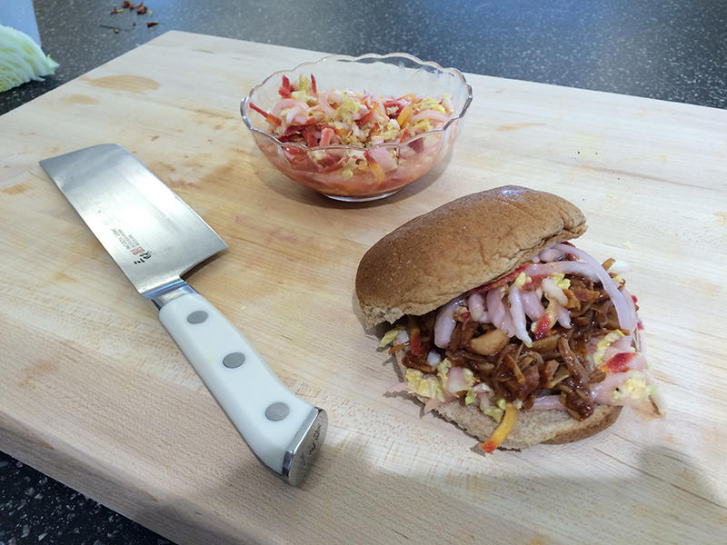 For healthy summer eating a Columbia chef has prepared a barbecue sandwich substituting jackfruit for pork.