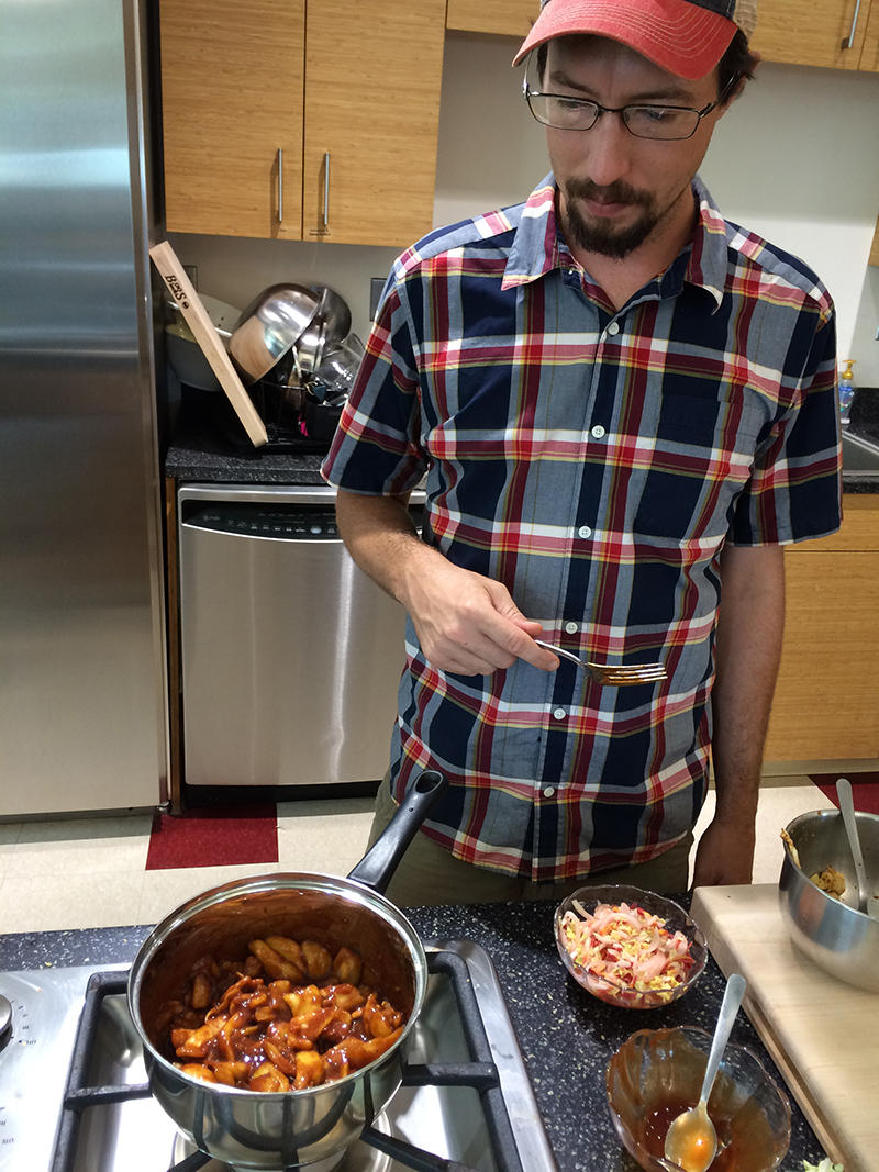 Columbia chef Eric Hoffman prepares a healthy summer meal as an alternative to unhealthy, even addictive, foods people often crave more in the summer.