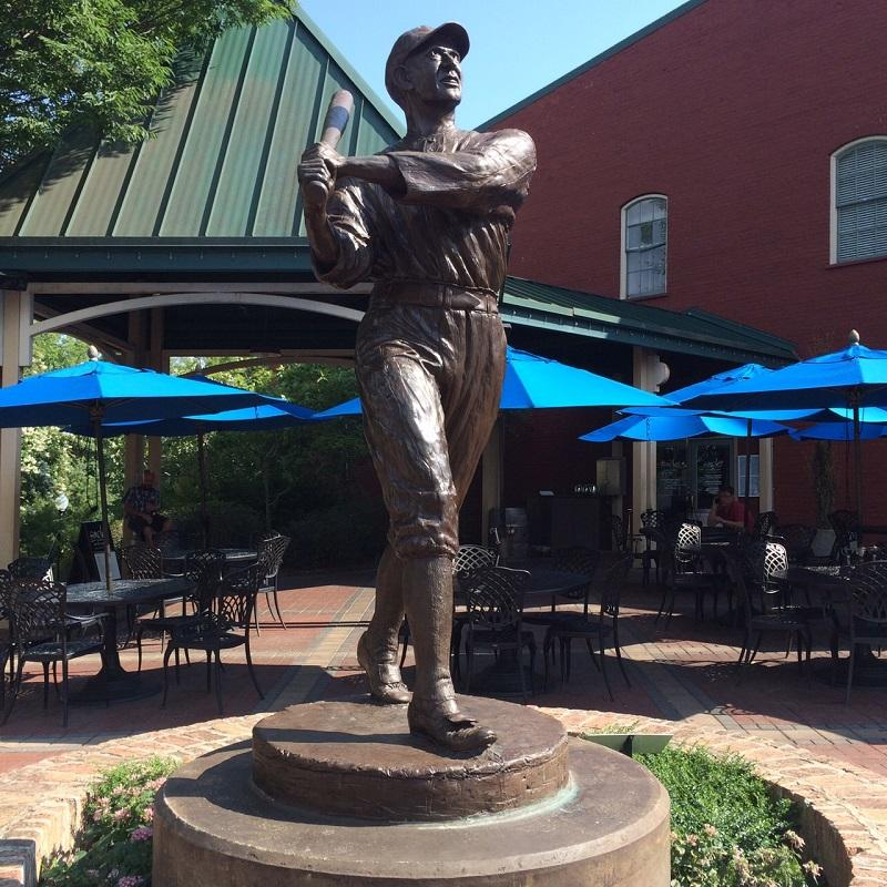 A statue of Shoeless Joe Jackson in Greenville.