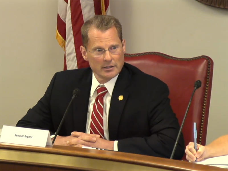 Sen. Kevin Bryant, chairing the Joint Committee on Pension Systems Review, Aug 30, 2016.