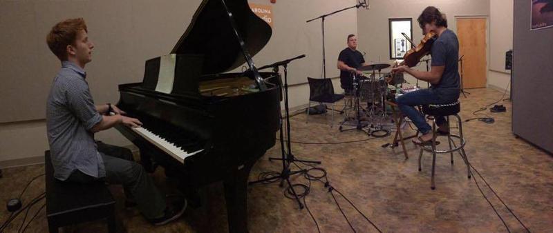 "Recording ""Resumption"" at South Carolina Public Radio."