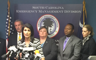 Gov. Nikki Haley and other state officials during Tuesday press conference.