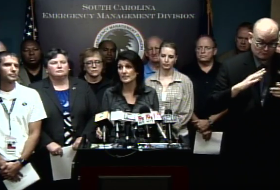 Governor Nikki Haley and her team, Saturday morning.