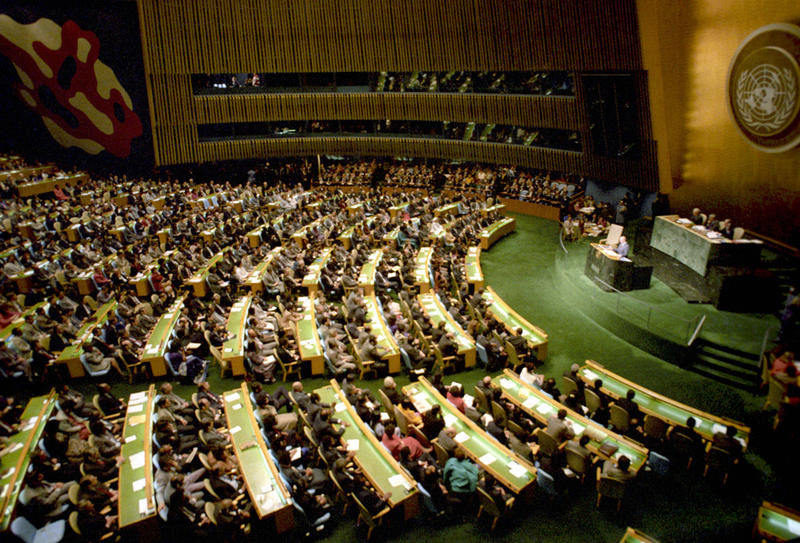 UN General Assembly. December 1988