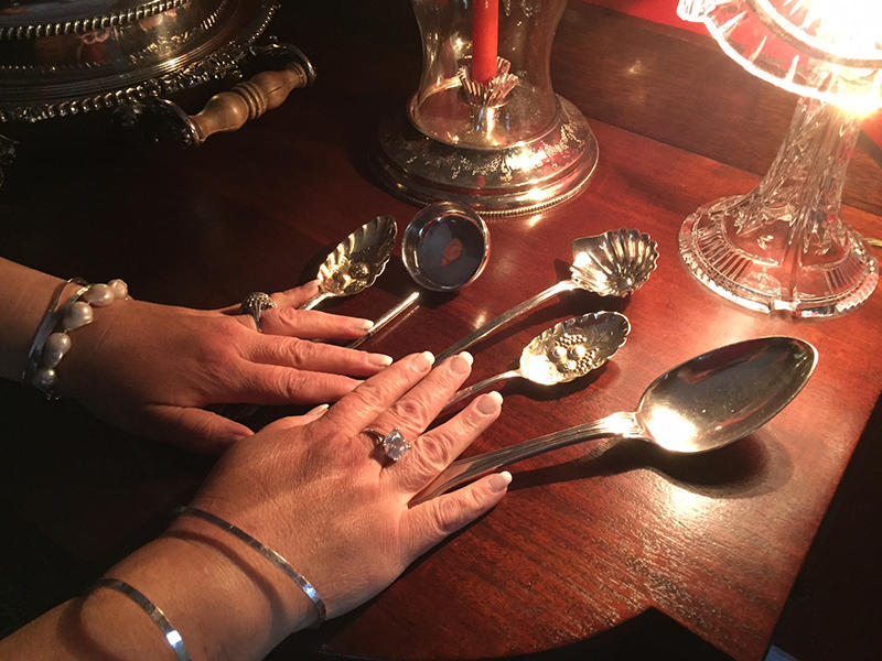 Each of these silver spoons has a story to tell, and Dawn Corley knows them all.