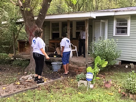 Counselors from Carolina United have worked  with thousands of flood victims in the past year, including this one in Eastover, S.C.