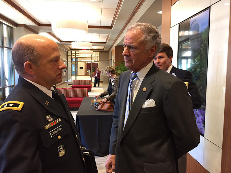 South Carolina Lt. Gov. Henry McMaster (right) with Maj. Gen. Robert E. Livingston, S.C. Adjutant General.