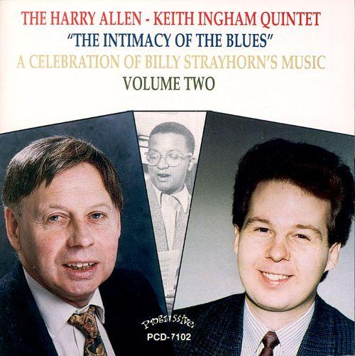 Keith Ingham (left) pictured with bandmate Harry Allen on the cover of a 1994 Progressive Records release.