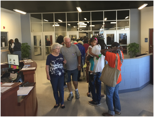 SC residents from Darlington, Dillon, Florence and Marion Counties attend Team SC PeeDee Day in October 2016 to get information about disaster recovery following Hurricane Matthew.