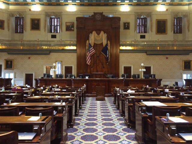 The South Carolina House of Representatives Chamber.