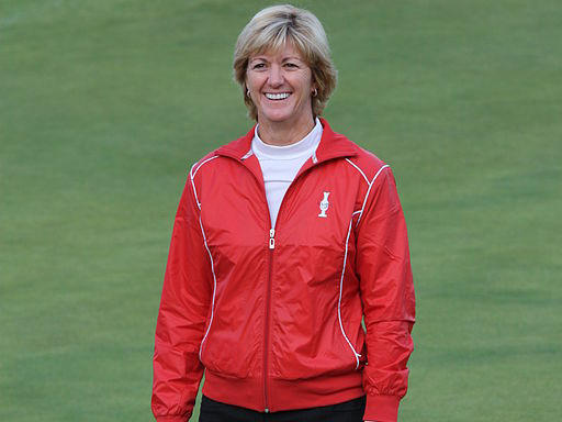 Beth Daniel, captain of the USA Solheim Cup Team, after announcement of Solheim Cup teams, which followed final round of the 2009 Ricoh Women's British Open held at Royal Lytham & St Annes on August 2, 2009, Lytham St Annes, England.