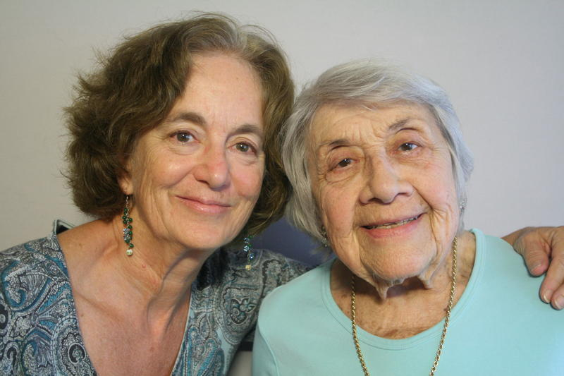 Photo of two women, Carol and Helen Antman.