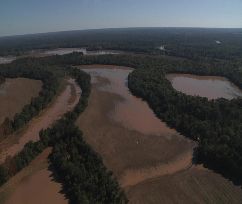 Richland County Farmland flooding in 2015
