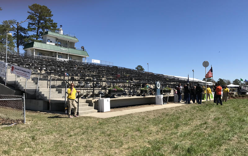 Grand Stand at the Springdale Race Course.
