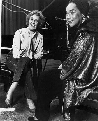 Marian McPartland and Dorothy Donegan during the Piano Jazz recording session in 1983.