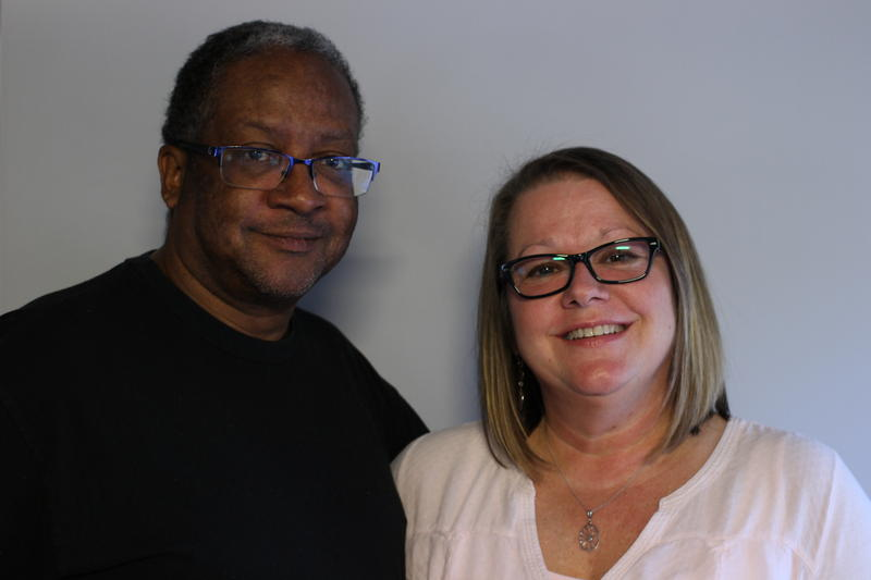 Chip and Robin Harriford, at the StoryCorps booth, Columbia, 2016.
