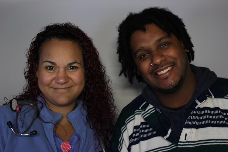 Meredith Robb and Felix Lopez, at the StoryCorps booth in Columbia 2016.