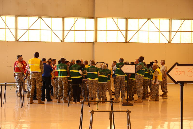 Team meeting before the exercise begins