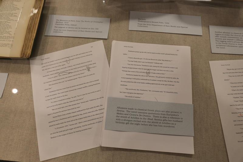 Annotations accompany a draft of Rash's writing.